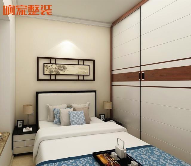新中式风格次卧空间效果图