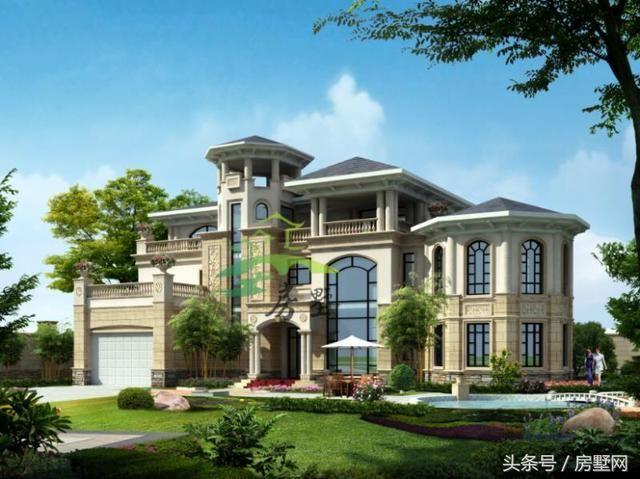 这处设计的风格为中欧结合,中国传统的塔亭设计结合上欧式的城堡设计