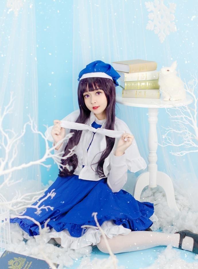 可爱小仙女白色丝袜展现清澈纯真的美插图(5)