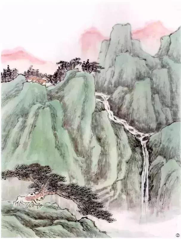 简单的青绿山水画法