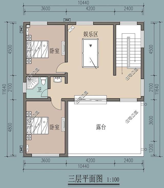 新农村3层自建房, 10米x11米, 加一个卫生间平移楼梯值么?