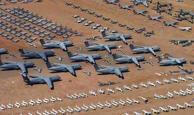 为啥美国空军比中国强?四千架战机被丢进沙漠:一半以上中国都没