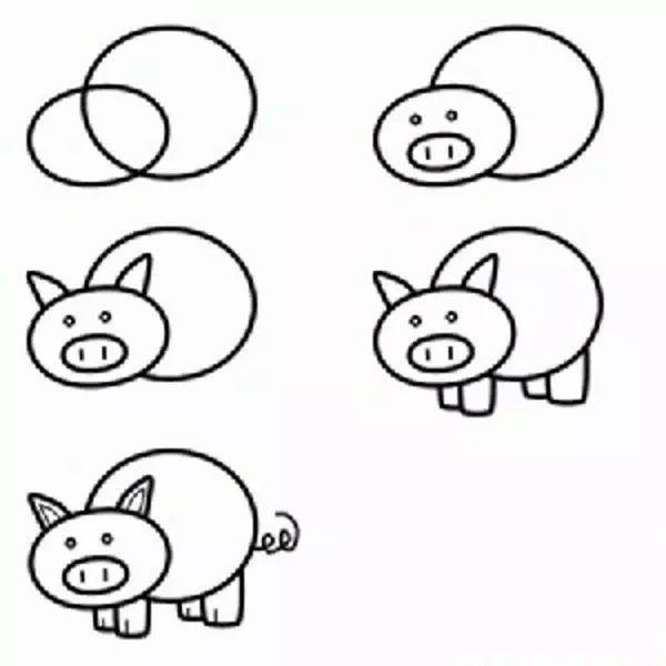 简笔画动物羊步骤