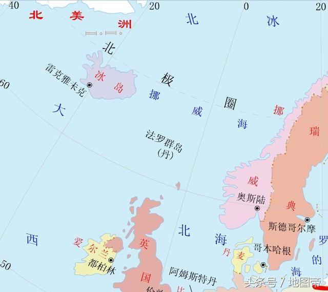 冰岛位于大西洋和北冰洋的交汇处,为欧洲第二大岛,北欧五国之一.