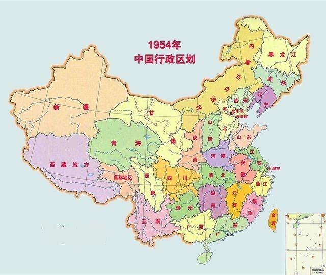内蒙古省手绘地图