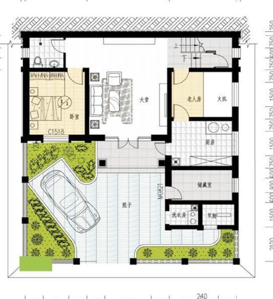 20万带庭院的农村房屋设计图,5套方案,2款带火