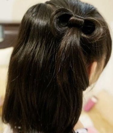 怎么扎蝴蝶结头发又快又好图解