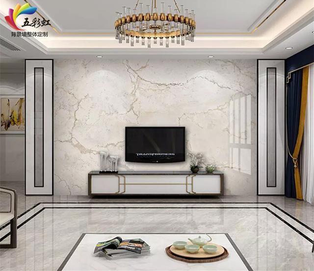 5,家居装修轻奢现代电视背景墙效果图