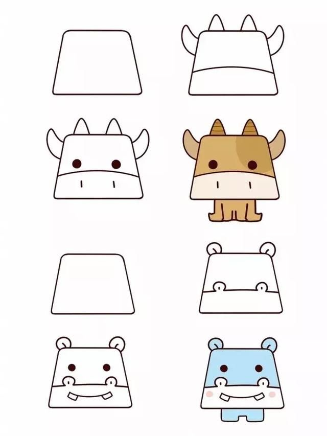 10款幼儿动物简笔画技巧,这样的画法简单又好玩 附画谱