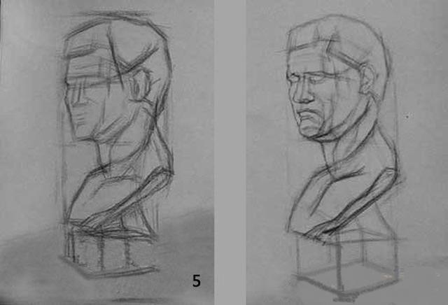 结构素描的意思及石膏头像结构素描画法步骤