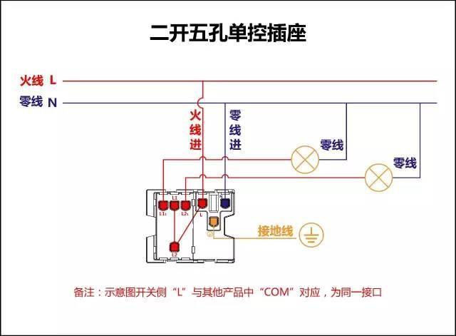 一开单控开关接线图 一灯三控接线图 双控灯 三联开关接线图 三个