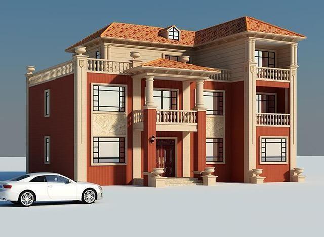二层半农村别墅设计图,造价35万,老爸与施工师傅都看得懂