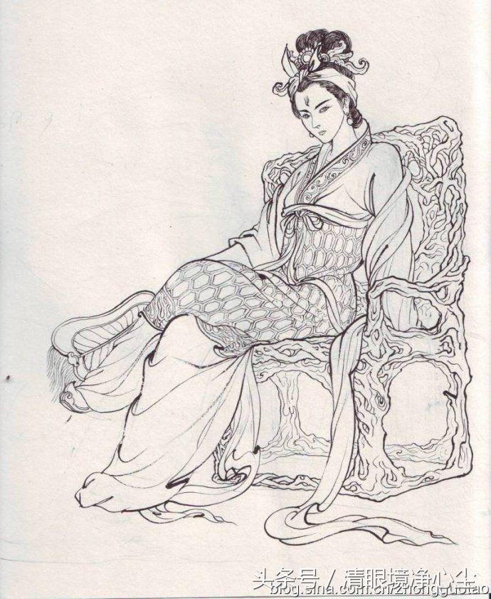 手绘的西游记人物,女妖怪还能这么美?