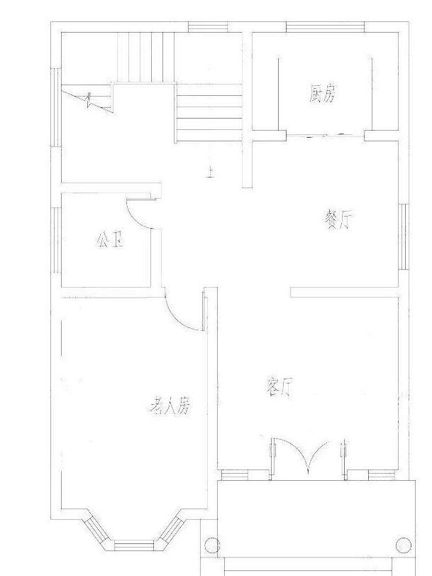 25万占地100平方米2厅4卧农村自建房设计图图片