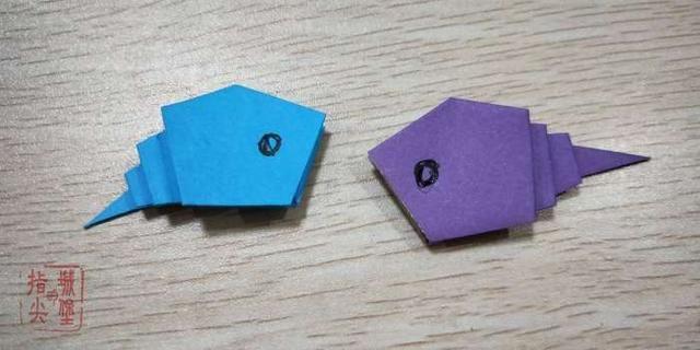 简单的卡通蝌蚪折纸, 小朋友喜欢的小动物折纸