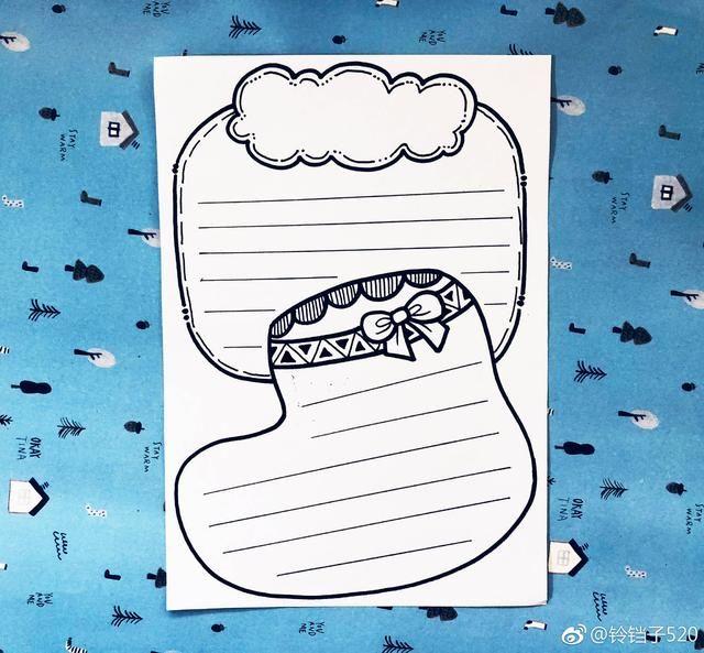 超级简单的幼儿手帐手抄报排版,手残党也能画的简笔画