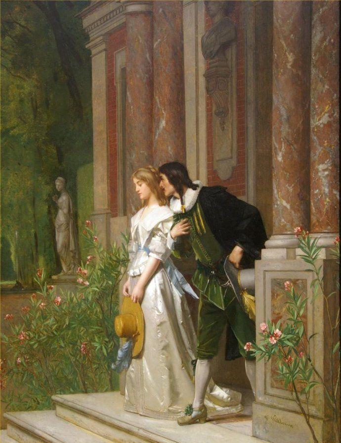 比利时画家弗洛伦特威廉姆斯人物油画