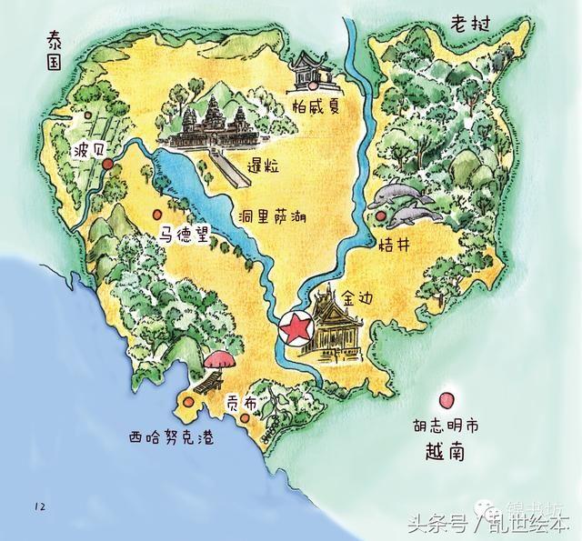 柬埔寨旅游地图
