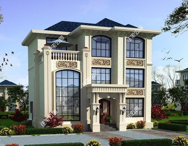 10套3层简欧式农村别墅,含平面图,三合院四合院梦里见