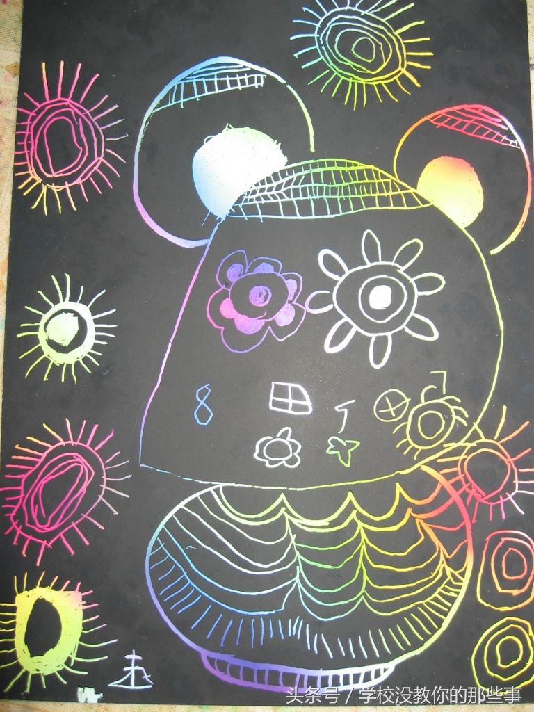 幼儿园环境布置:儿童刮画作品展示二《学校没教你的那些事》原创