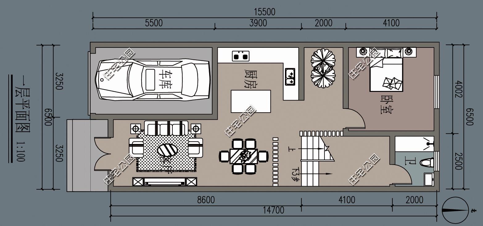 开间 进深 建筑面积_8x12米农村漂亮别墅图