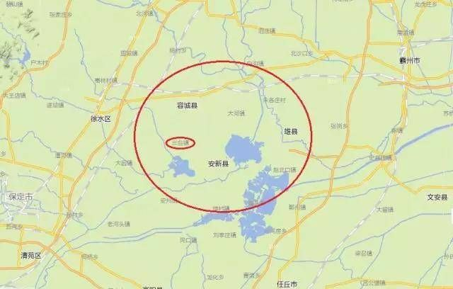 三台镇地理位置 来源:腾讯地图
