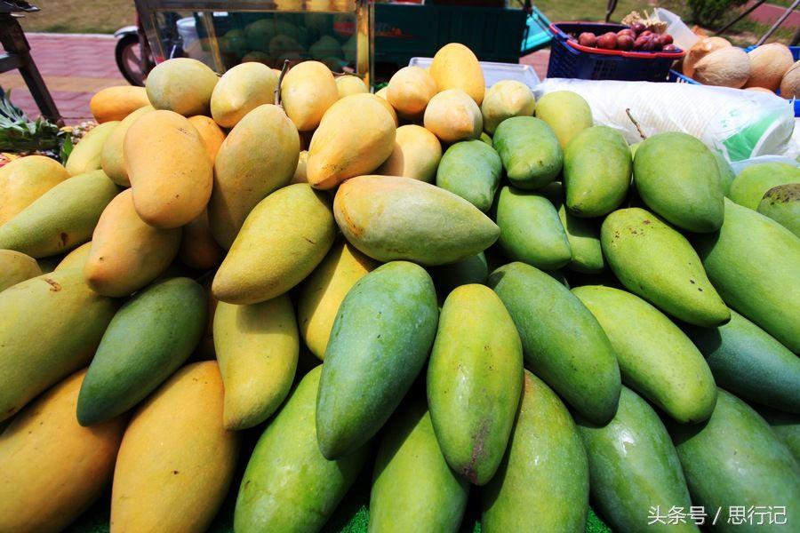 厦门集美金灿灿的大芒果5元钱一斤,有当地人却说这芒果来自台湾