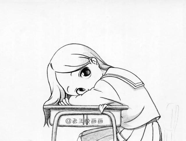 小女孩的简笔画教程