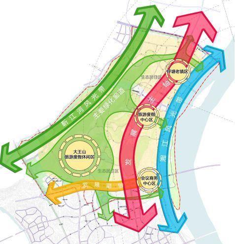 """空间结构规划图 3 功能分区 规划区以""""再续文脉,智慧栖居""""为法则"""