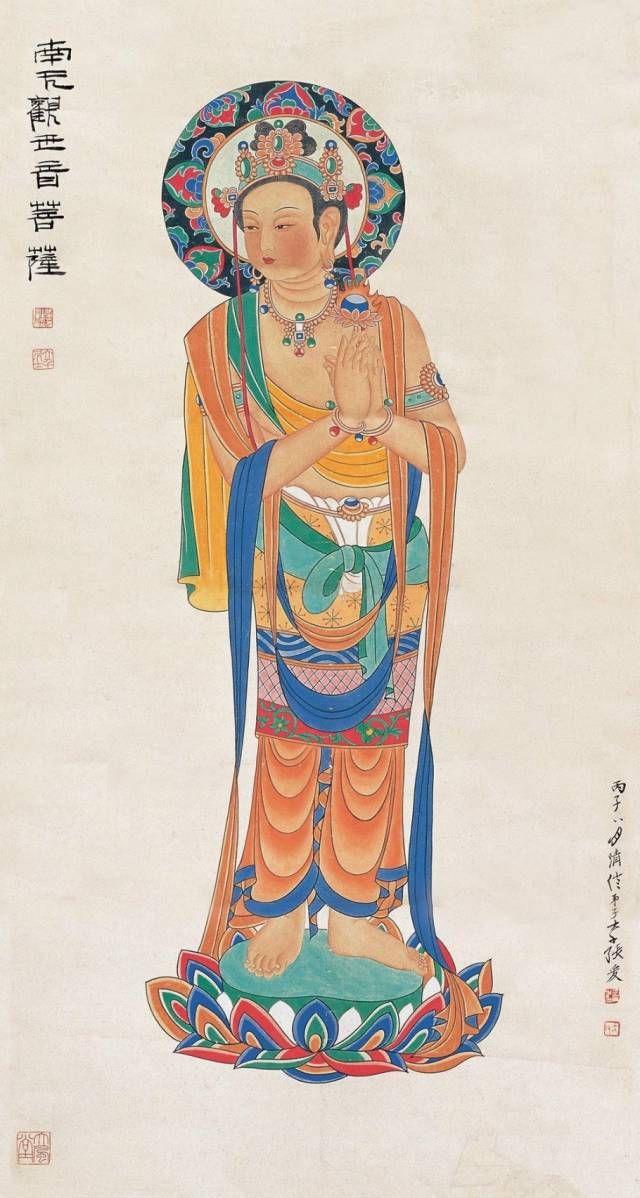 《西游记》中的观音菩萨坐垫下的两个童女是谁观音菩萨坐下的两个童