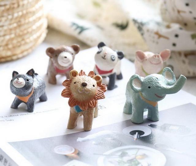 时尚 正文  4,zakka风动物迷你摆件 可爱萌萌的小动物,天真无邪的望着