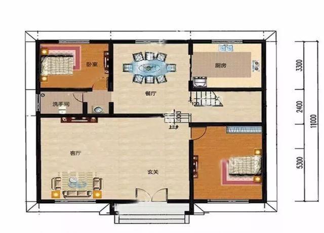 10*10米别墅设计平面图
