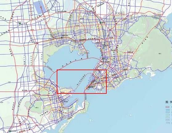 根据研究,第二条海底隧道定位于连接青岛东岸与西岸城区的又一条全天
