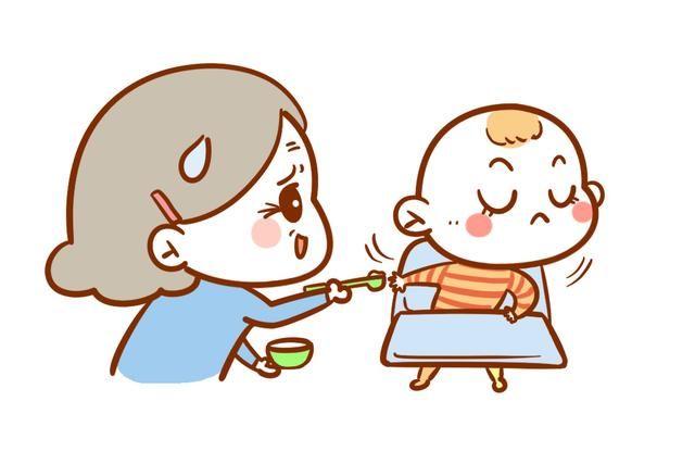 儿童挑食卡通图片