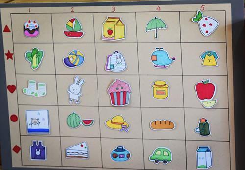 纸质房子一座,七种小动物头像共十四个,两个小朋友的头像三,活动过程1
