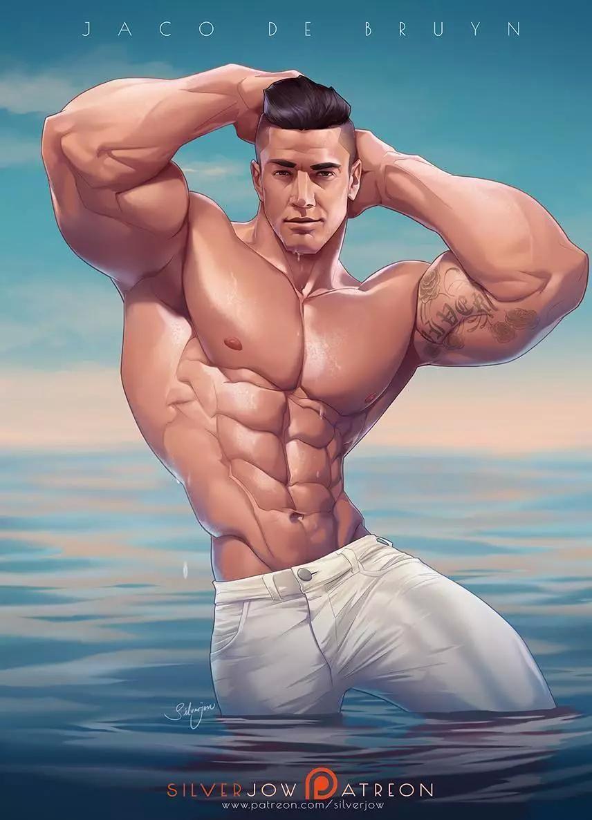 肌肉_劲爆的肌肉漫画看了就想去健身,每张都可以做壁纸!