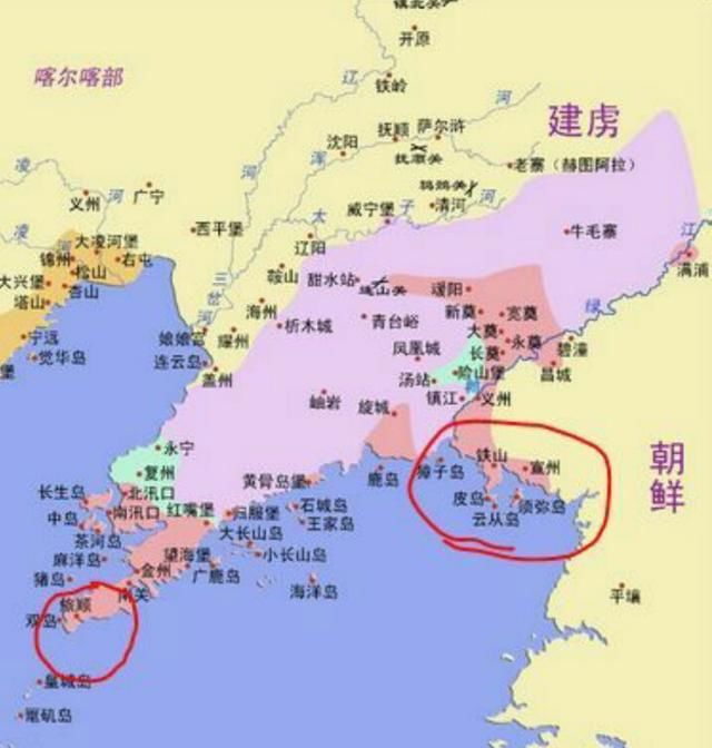 从地图上看下皮岛的位置,你就明白袁崇焕杀毛文龙是犯