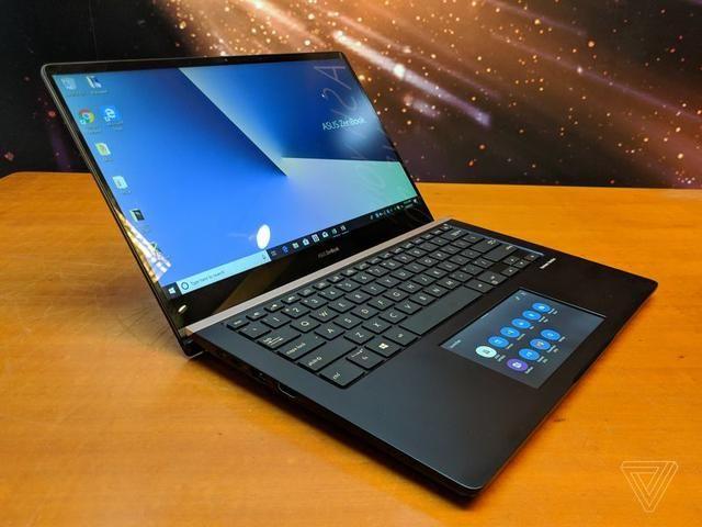 华硕笔记本屏幕�9l#_华硕笔记本黑科技:两个显示屏?