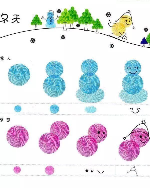 幼儿园指纹画作品_(征集)幼儿撕贴画作品|宝宝班_幼儿999