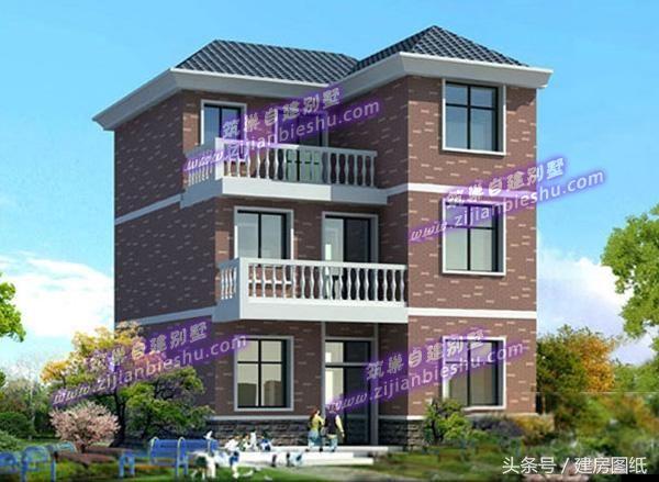 90平方米三层农村自建房,小别墅设计方案精选(效果图
