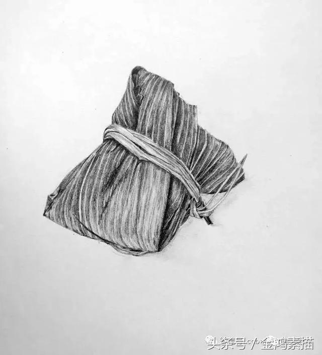 端午安康 粽子素描画法步骤|素描
