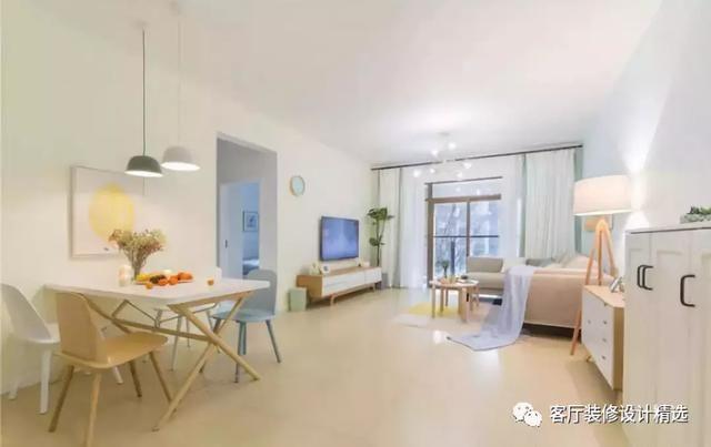 138平三居室装修效果图,清新美好