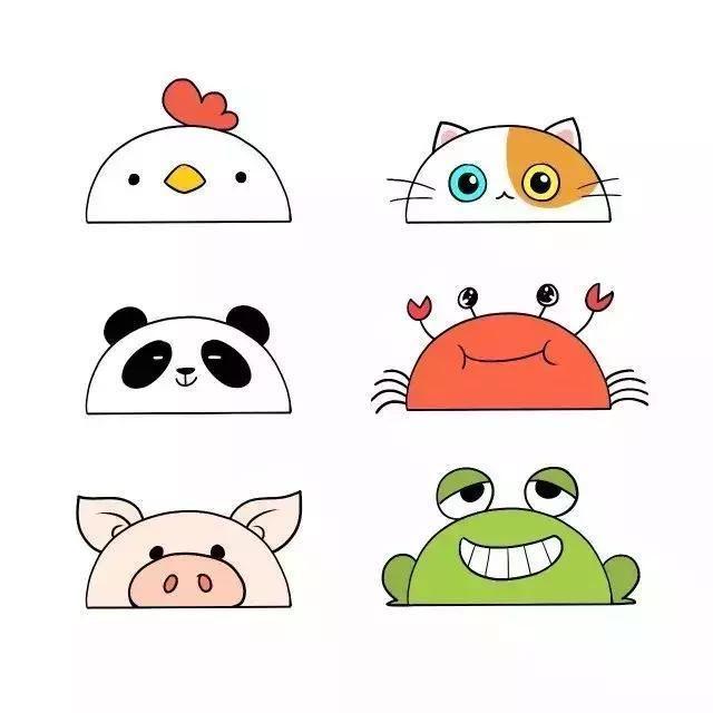 可爱的动物简笔画,只需几笔,孩子一学就会!
