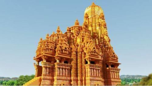 《我的世界》里世界古国的代表建筑 古印度的神庙只许