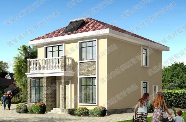 90平方米小户型设计:20万2厅3卧二层自建房全套施工图