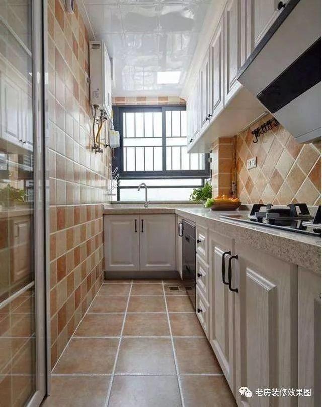 简美式厨房装修效果图