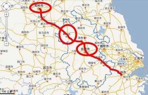 河南到安徽正在修建一条高铁,途径11站,于2018年底通车!图片