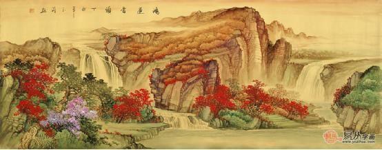 国画鸿运当头山水画寓意解读,一生富贵居高境界图片