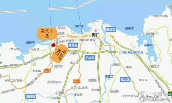 海口火车站和海口南站都在澄迈老城区附近,大约五公里远.