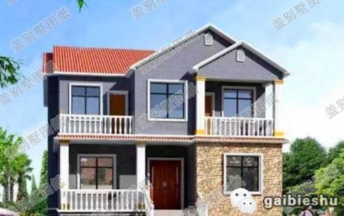 10*11米25万1厅5卧二层农村自建房设计图